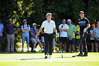 Jang Hyun Lee and Daniell Hillier tee off from the 5th during the final. Final day of the Jennian Homes Charles Tour / Brian Green Property Group New Zealand Super 6s at Manawatu Golf Club in Palmerston North, New Zealand on Sunday, 8 March 2020. Photo: Dave Lintott / lintottphoto.co.nz