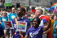 Gay Pride Parade in central london 27-6-15