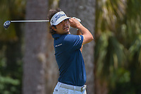 Martin Flores (USA) watches his tee shot on 2 during round 1 of The Players Championship, TPC Sawgrass, at Ponte Vedra, Florida, USA. 5/10/2018.<br /> Picture: Golffile | Ken Murray<br /> <br /> <br /> All photo usage must carry mandatory copyright credit (&copy; Golffile | Ken Murray)