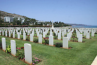 Pictured: World War II cemetery in Souda, near Chania, Crete, Greece. Tuesday 08 July 2014<br />