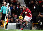 Wayne Rooney of Manchester United takes a corner during the English League Cup Quarter Final match at Old Trafford  Stadium, Manchester. Picture date: November 30th, 2016. Pic Simon Bellis/Sportimage