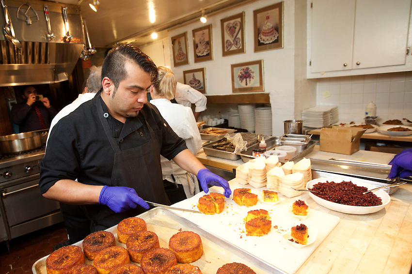 New York, NY - March 21, 2016: The James Beard House hosted chef Ali Mesghali of Atlanta's Rumi's Kitchen for a Persian New Year feast, celebrating the Iranian holiday, Nowrouz. <br /> <br /> <br /> CREDIT: Clay Williams for the James Beard Foundation.<br /> <br /> &copy; Clay Williams / claywilliamsphoto.com