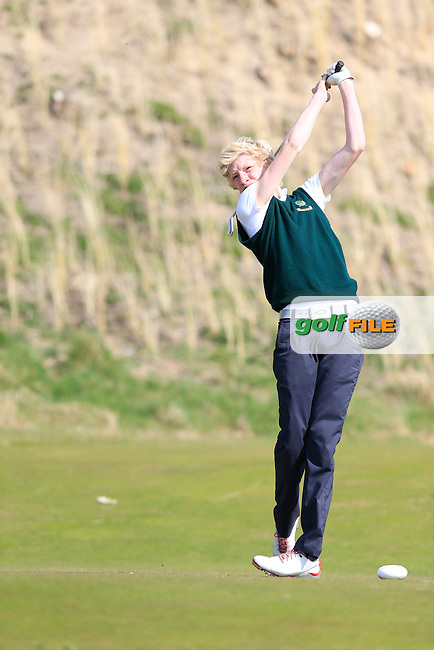 Kyle Patton (Lisburn) during the Ulster U16 Close Championship 2015, Portstewart Golf Club, Portstewart, Co Londonderry, Ireland.<br /> Picture: Fran Caffrey / Golffile
