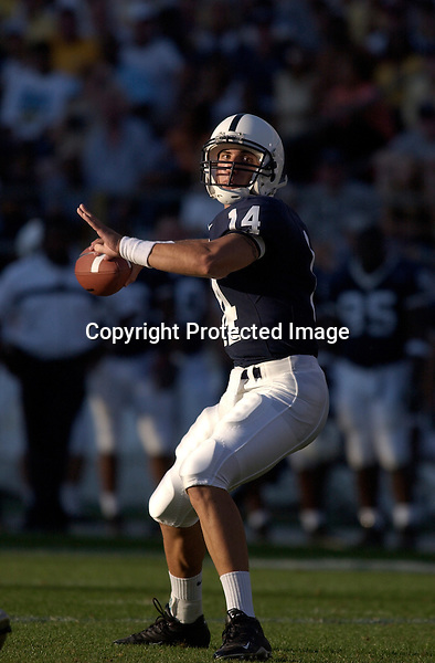 04 September 2004:  Anthony Morelli...Penn State defeated Akron 48-10 during their season opener 9-4-04 at Beaver Stadium in State College, PA....
