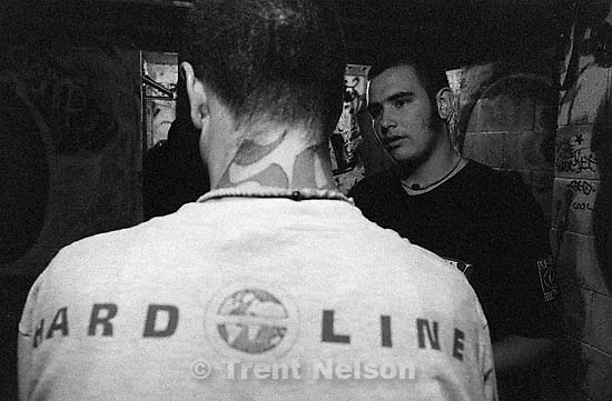 David Clark and Kevin Clark, hardline straightede. Kevin has the dark shirt on<br />