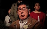 SAO PAULO, SP, 05 DE AGOSTO 2012 - II TOORO NAGAGASHI - Shunji Morimoto, sobrevivente da bomba nuclear de Hiroshima durante homenagem  dos 67 anos da bomba atômica de Hiroshima, o Parque do Ibirapuera celebra a segunda edição do Tooro Nagashi (Luzes da Paz) na noite deste domingo. FOTO: VANESSA CARVALHO / BRAZIL PHOTO PRESS.
