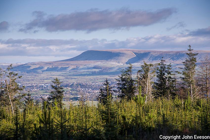 Pendle Hill, Lancashire from Longridge Fell.