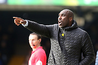 Southend United manager Sol Campbell during Southend United vs Bristol Rovers, Sky Bet EFL League 1 Football at Roots Hall on 7th March 2020