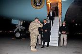 United States President Barack Obama arrives at Bagram Air Field, Afghanistan, May 1, 2012. .Mandatory Credit: Pete Souza - White House via CNP