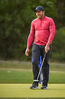 Jhonattan Vegas (VEN) reacts to barely missing his putt on 14 during Round 1 of the Valero Texas Open, AT&amp;T Oaks Course, TPC San Antonio, San Antonio, Texas, USA. 4/19/2018.<br /> Picture: Golffile | Ken Murray<br /> <br /> <br /> All photo usage must carry mandatory copyright credit (&copy; Golffile | Ken Murray)