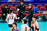 Team coach Kumi Nakada of Japan during the FIVB Volleyball Nations League Hong Kong match between Japan and Italy on May 29, 2018 in Hong Kong, Hong Kong. Photo by Marcio Rodrigo Machado / Power Sport Images