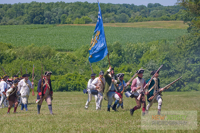 Continental  Army reenactors, Revolutionary War, Monmouth Battlefield State Park, New Jersey
