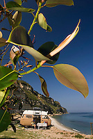 Tropea, Calabria, Italy, May 2007. Camping Marco Polo near Tropea is an oasis of rest before the summer season starts.  Many picturesque towns line the mountainous coastline of Calabria. Photo by Frits Meyst/Adventure4ever.com