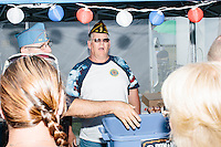 The American Legion had a tent at the Hillsborough Balloon Festival in Hillsborough, New Hampshire. South Carolina Senator and Republican presidential candidate Lindsey Graham made a stop at the tent as he conducted a meet-and-greet campaign stop there.