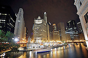Downtown Chicago, looking south from Michigan Ave near the Chicago River, June, 2011. Ernie Mastroianni photo.
