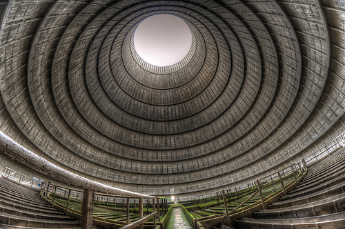 Abandoned power station<br /> The cooling tower, never been inside one of these before, was quite an experince.