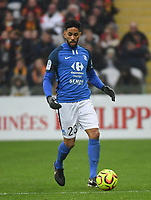 20181124 - LENS , FRANCE : Grenoble's Jerome Mombris pictured during the soccer match between Racing Club de LENS and Grenoble Foot 38, on the 15th  matchday in the French Dominos pizza Ligue 2 at the Stade Bollaert Delelis stadium , Lens . Saturday 24 Novembre 2018 . PHOTO DIRK VUYLSTEKE | SPORTPIX.BE