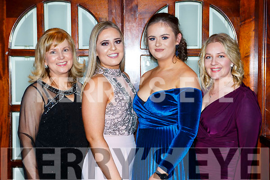 Trish Healy, Therese Healy, Ella Kerin and Eileen Horan  at the Castleisland Hospice dinner dance in the River Island Hotel on Saturday night
