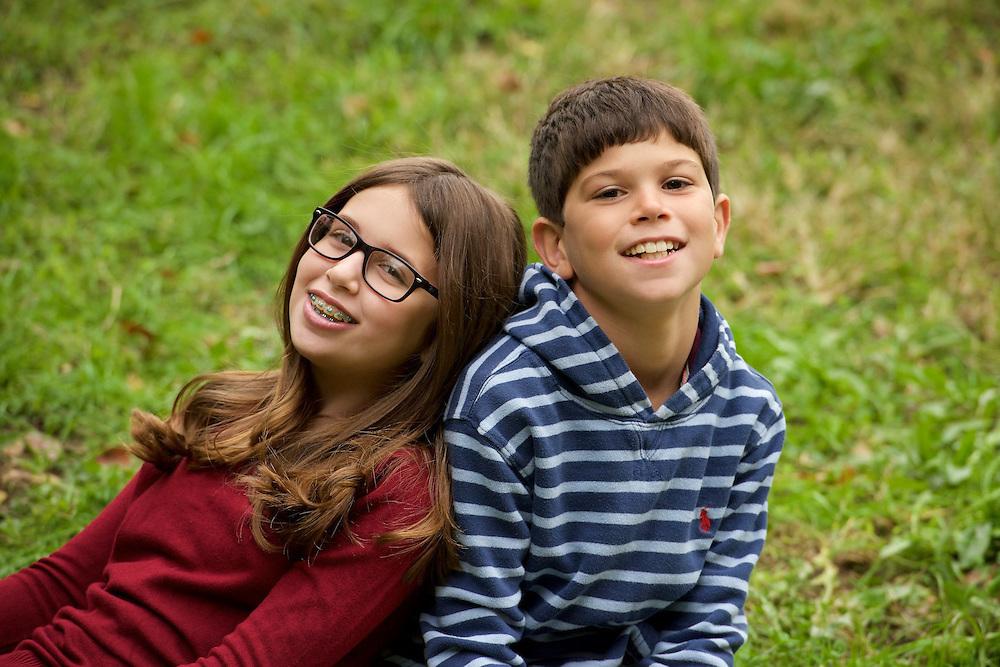 Sibling portrait in Riverside Park