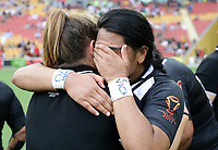 New Zealand's Maitua Feterika is dejected after they lost the women's Rugby League World Cup final between Australia and New Zealand, Suncorp Stadium, Brisbane, Australia, 2 December 2017. Copyright Image: Tertius Pickard / www.photosport.nz MANDATORY CREDIT/BYLINE : SWPix.com/PhotosportNZ
