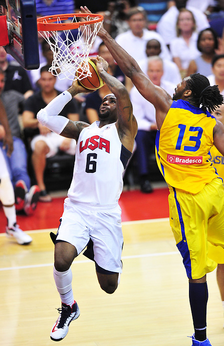 USA Men's National team defeated Brazil 80-69 during an exhibition game at the Verizon Center in Washington, D.C. on Monday, July 16, 2012. Alan P. Santos/DC Sports Box
