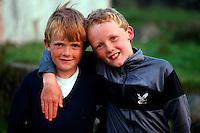 Irish boys, Bloody Foreland, County Donegal, Ireland