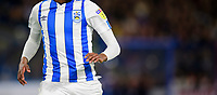 A close up of the front of the home shirt worn by Huddersfield Town's Jaden Brown showing no shirt sponsor, as part of a sponsorship agreement with Paddy Power<br /> <br /> Photographer Chris Vaughan/CameraSport<br /> <br /> The Carabao Cup First Round - Huddersfield Town v Lincoln City - Tuesday 13th August 2019 - John Smith's Stadium - Huddersfield<br />  <br /> World Copyright © 2019 CameraSport. All rights reserved. 43 Linden Ave. Countesthorpe. Leicester. England. LE8 5PG - Tel: +44 (0) 116 277 4147 - admin@camerasport.com - www.camerasport.com