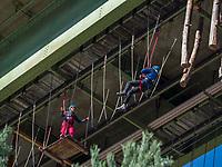 Hochseiklettern Freizeitpark Area 47, &Ouml;tztal-Bahnhof, Imst, Tirol, &Ouml;sterreich, Europa<br /> high rope course outdoor sports park Area 47, &Ouml;tztal-Bahnhof,, Imst, Tyrol, Austria, Europe