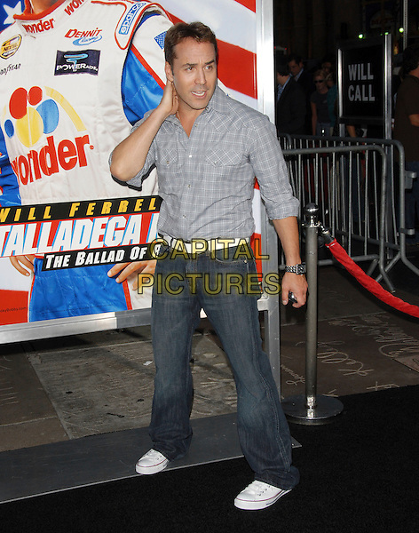 "JEREMY PIVEN.World Premiere of ""Talladega Nights:The Ballad of Ricky Bobby"" held at The Grauman's Chinese Theatre in Hollywood, California, USA..July 26th, 2006.Ref: DVS.full length jeans denim blue shirt white belt sneakers trainers.www.capitalpictures.com.sales@capitalpictures.com.©Debbie VanStory/Capital Pictures"