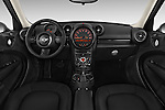 Stock photo of straight dashboard view of a 2015 MINI Countryman Base 4 Door Hatchback Dashboard