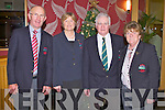 ARDFERT GOLF CLUB: Joe Stack (president), Kathleen Houlihan (lady captain), Brendan Sinnott (captain) and Joan Cantillon (lady president) at the Ardfert Golf Club Captain's dinner at the Ballyroe Heights hotel on Friday...