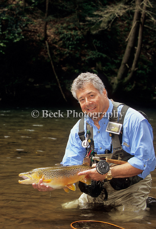 Tony Rado and a brown trout.