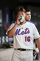 Daisuke Matsuzaka (Mets),<br /> AUGUST 23, 2013 - MLB :<br /> Daisuke Matsuzaka of the New York Mets takes a drink in the dugout during the Major League Baseball game against the Detroit Tigers at Citi Field in Flushing, New York, United States. (Photo by Thomas Anderson/AFLO) (JAPANESE NEWSPAPER OUT)