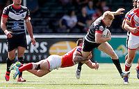 James Cunningham in action for London during the Kingstone Press Championship game between London Broncos and Sheffield Eagles at Ealing Trailfinders, Ealing, on Sun July 9,2016