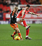 Charlton's Johnnie Jackson tussles with Sheffield United's Mark Duffy during the League One match at the Valley Stadium, London. Picture date: November 26th, 2016. Pic David Klein/Sportimage