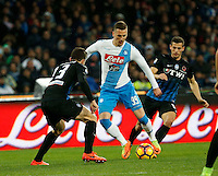 Arkadiusz Milik during the  italian serie a soccer match,between SSC Napoli and Atalanta      at  the San  Paolo   stadium in Naples  Italy , February 25, 2017