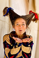 A costumed performer at the annual Carolina Renaissance Festival in November 2011. The annual Renaissance Festival and Fair takes place each October and November in Huntersville, NC, near Charlotte, NC.
