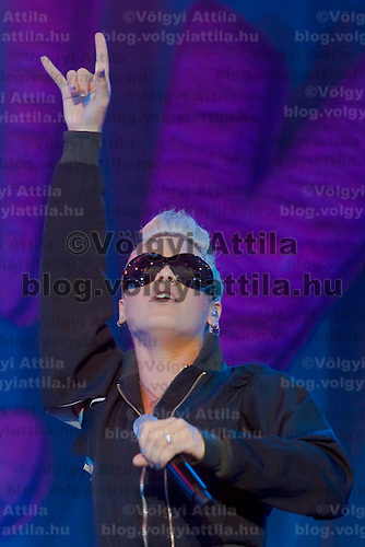 Pink performs on the Main stage of Sziget Festival, Budapest, Hungary. Friday, 10. August 2007. ATTILA VOLGYI