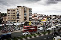 Makedonien. Skopje og Ohrid. Trafik i Skopje. Foto: Jens Panduro