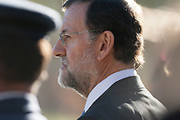 Mariano Rajoy reviewing troops