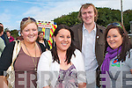 WELL GOOD: Looking forward to a good day as they attended the Pattern Day Mass at our Lady's Well in Ballyheigue on Monday were Susan Maye and Valerie Howard from Cork, along with Damien Casey and Ailin O'Mahony from Ballyheigue.   Copyright Kerry's Eye 2008