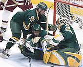 Slavomir Tomko, Vermont ?, Joe Fallon - The Boston College Eagles completed a shutout sweep of the University of Vermont Catamounts on Saturday, January 21, 2006 by defeating Vermont 3-0 at Conte Forum in Chestnut Hill, MA.