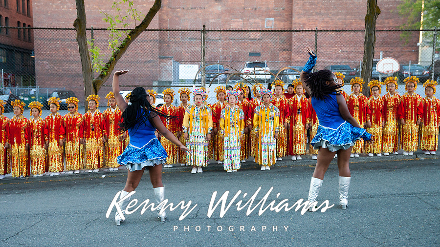 Washington Diamonds Drill Team, Chinatown Seafair Parade, Seattle, WA, USA.