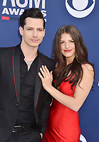 LAS VEGAS, CA - APRIL 07: Devin Dawson (L) and Leah Sykes attend the 54th Academy Of Country Music Awards at MGM Grand Hotel &amp; Casino on April 07, 2019 in Las Vegas, Nevada.<br /> CAP/ROT/TM<br /> &copy;TM/ROT/Capital Pictures