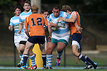27 September 2014: North Carolina's John Ahlert. The University of North Carolina Tar Heels hosted the University of Virginia Cavaliers at Hooker Field in Chapel Hill, NC in a 2014-15 USA College Rugby match. North Carolina won the game 27-12.