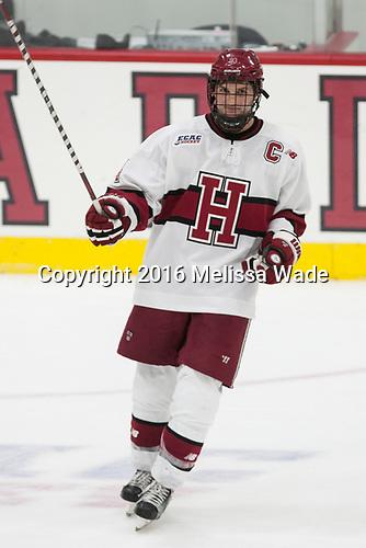 Alexander Kerfoot (Harvard - 14) - The Harvard University Crimson defeated the visiting Boston College Eagles 5-2 on Friday, November 18, 2016, at the Bright-Landry Hockey Center in Boston, Massachusetts.