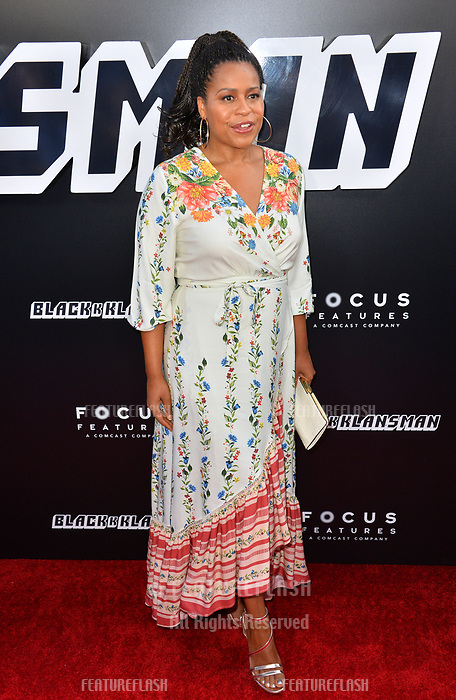 "Courtney A. Kemp at the Los Angeles premiere of ""BlacKkKlansman"" at the Academy's Samuel Goldwyn Theatre, Beverly Hills, USA 08 Aug. 2018<br /> Picture: Paul Smith/Featureflash/SilverHub 0208 004 5359 sales@silverhubmedia.com"