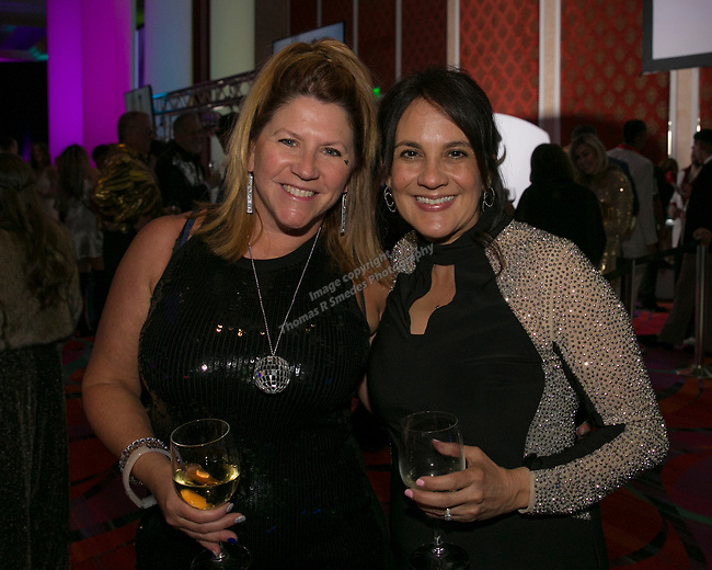 Laura Worrall and Lisa Ferro during the 10th Annual Blue Tie Ball at the Peppermill Resort Spa Casino in Reno, NV on Friday night, Feb. 1, 2019.