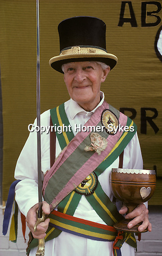The Mock Mayor of Ock Street, with ceremonial sword and  cup. Ock Street Abingdon Oxfordshire.