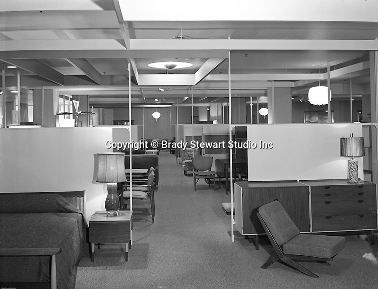 Unistrut Products Company, Office and home furnishings of the Future on the showroom floor - 1953